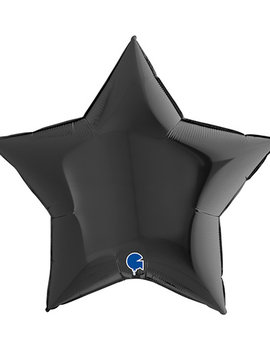 Folieballon Star/ Ster | 18inch Zwart