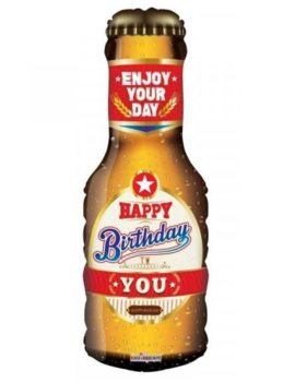 Happy Birthday Beer Bottle Folieballon | 91cm