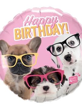 Happy Birthday Dogs/honden Folieballon | 45cm