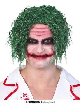 Crazy Joker |  Pruik Horror met krulletjes