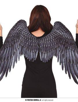 Engelen Vleugels 105cm x 45cm | Zwart