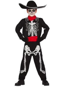 Skelet Jack Los Muertos   Kinderkostuum