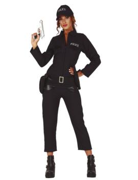 Politievrouw Jumpsuit   Dameskostuum