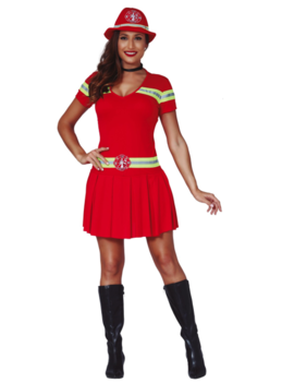 Brandweervrouw Kleedje | Dameskostuum