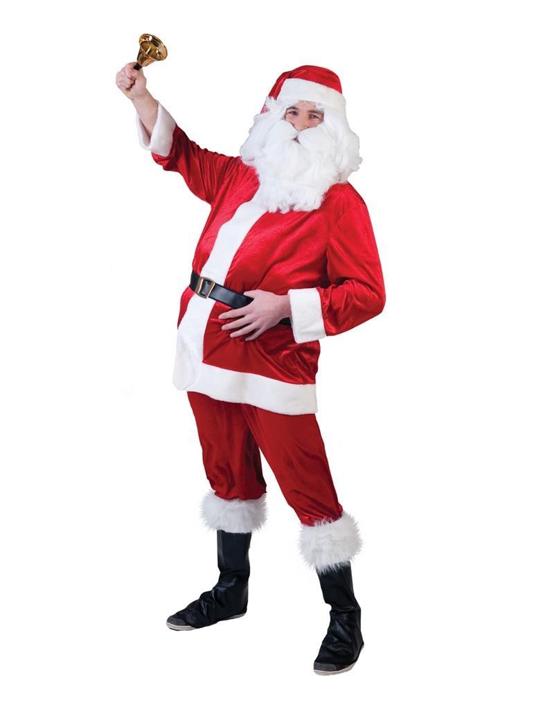 Kerstmankostuum Fluweel | 4 Delig