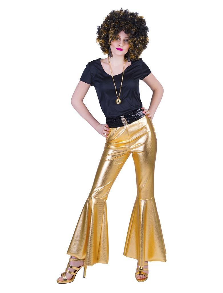 Disco Fever Pants Goud   Dameskostuum
