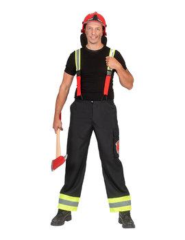 Brandweerman Broek + Bretellen | Herenkostuum