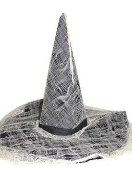 Heksenhoed Zwart | Met Spinnenweb