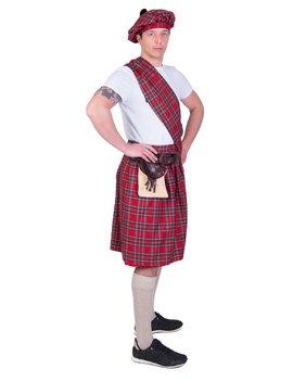 Highlander Schot/ Rood | Herenkostuum