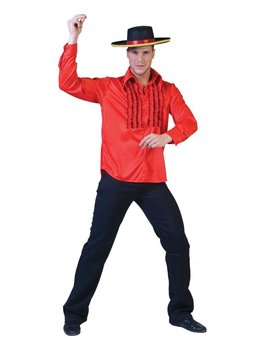 Spaans Hemd Rood   Herenkostuum