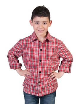 Cowboy Hemd Geruit   Kinderkostuum
