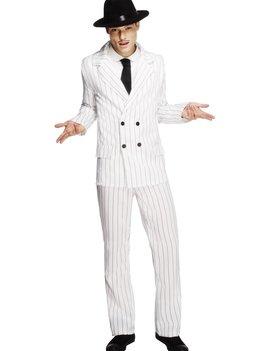 Fever Gangster Kostuum Wit | Heren