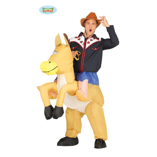 Opblaaskostuum | Cowboy met Paard | Herenkostuum