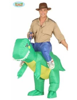 Opblaaskostuum | Safariman met Dino | Herenkostuum