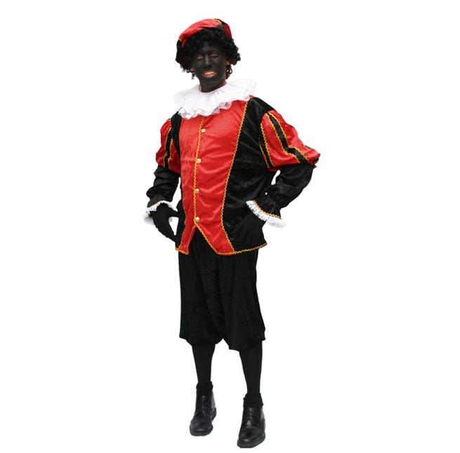 Pietenkostuum Rood/ Zwart