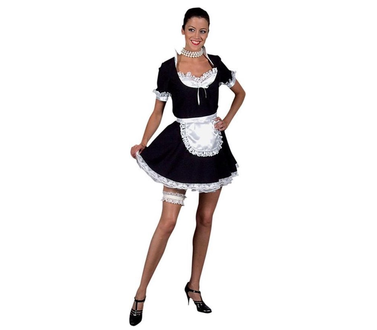 Sexy Dienstmeisje   Serveuse  Dameskostuum