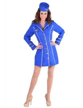 Stewardess Blauw |Dameskostuum