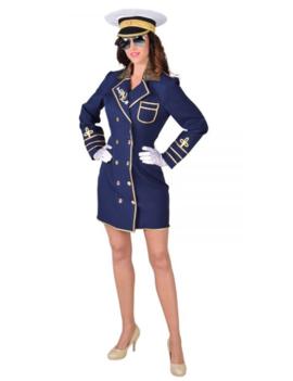 Kapiteinsvrouw Navy | Dameskostuum