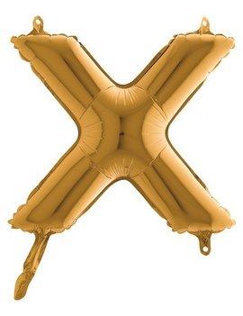 Folieballon Mini  l 36cm  Letter X