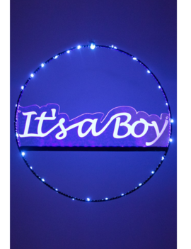 Deur- Raamcirkel It's a boy   Met lichtjes