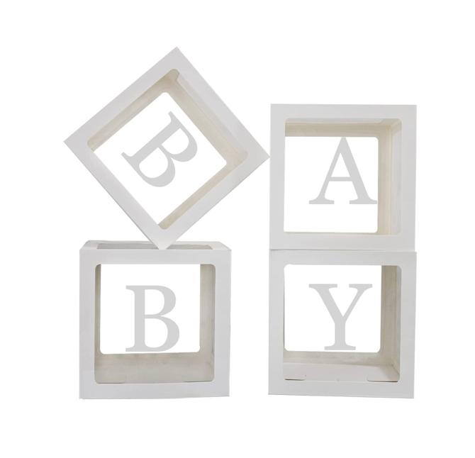 Ballonbox Baby | Transparante Box + Ballonnen