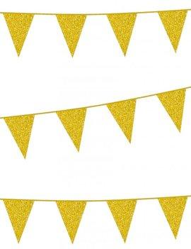 Vlaggenlijn Glitter / Goud | 6m