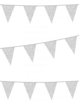 Vlaggenlijn Glitter / Zilver | 6m