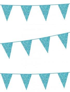 Vlaggenlijn Glitter / Lichtblauw | 6m