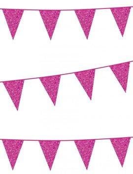 Vlaggenlijn Glitter / Roze | 6m
