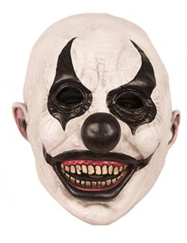 Horrorclown Masker | Wit/Zwart