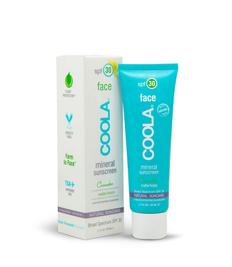 Coola Face Natural Suncare SPF30 – Matte Finish (Cucumber)
