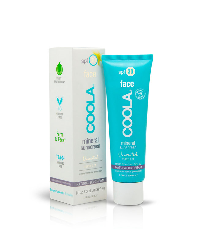 Coola Face Natural BB-Cream SPF30 – Matte Tint (Unscented)