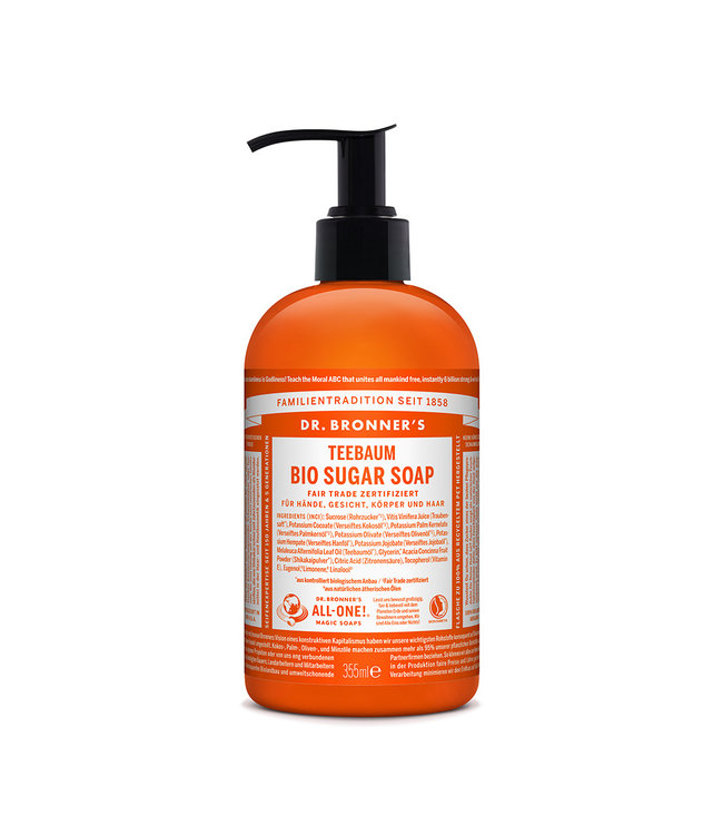 Dr. Bronner's Sugar Soap Dispenser 4:1 – Teebaum