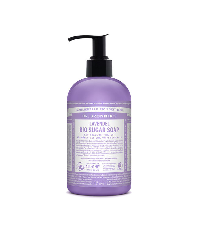 Dr. Bronner's Sugar Soap Dispenser 4:1 – Lavendel