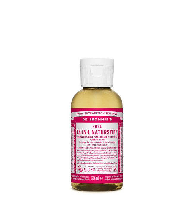 Dr. Bronner's 18-in-1 Naturseife – Rose
