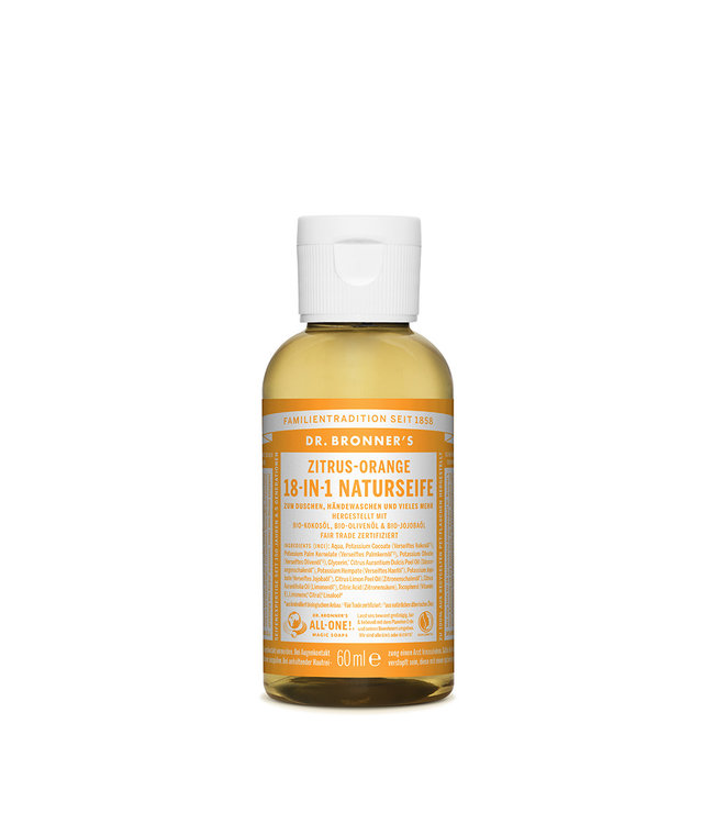 Dr. Bronner's 18-in-1 Naturseife – Zitrus Orange