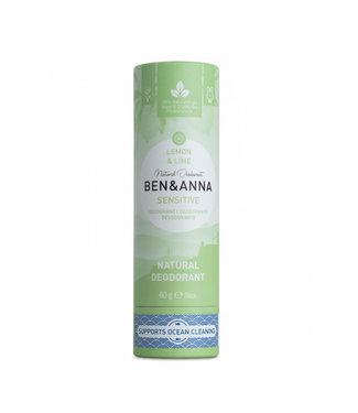 Ben & Anna Sensitive - Lemon & Lime Deodorant Stick Papertube
