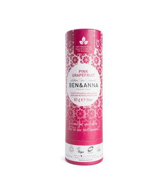 Ben & Anna Pink Grapefruit Deodorant Stick Papertube