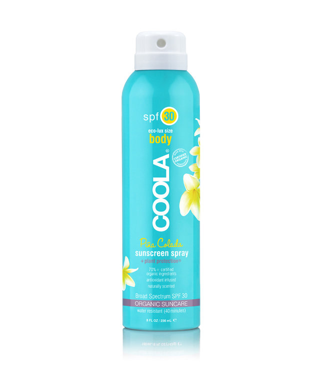 Coola Classic Körper Bio- Sonnenschutz-Spray LSF 30 (wasserfest) - Pina Colada