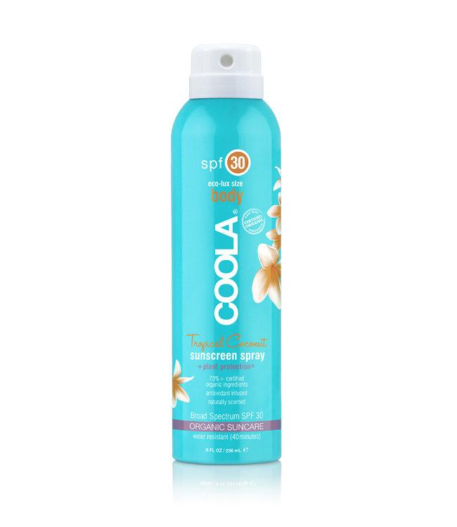 Coola Classic Körper Bio-Sonnenschutz-Spray LSF 30 (wasserfest) - Tropical Coconut
