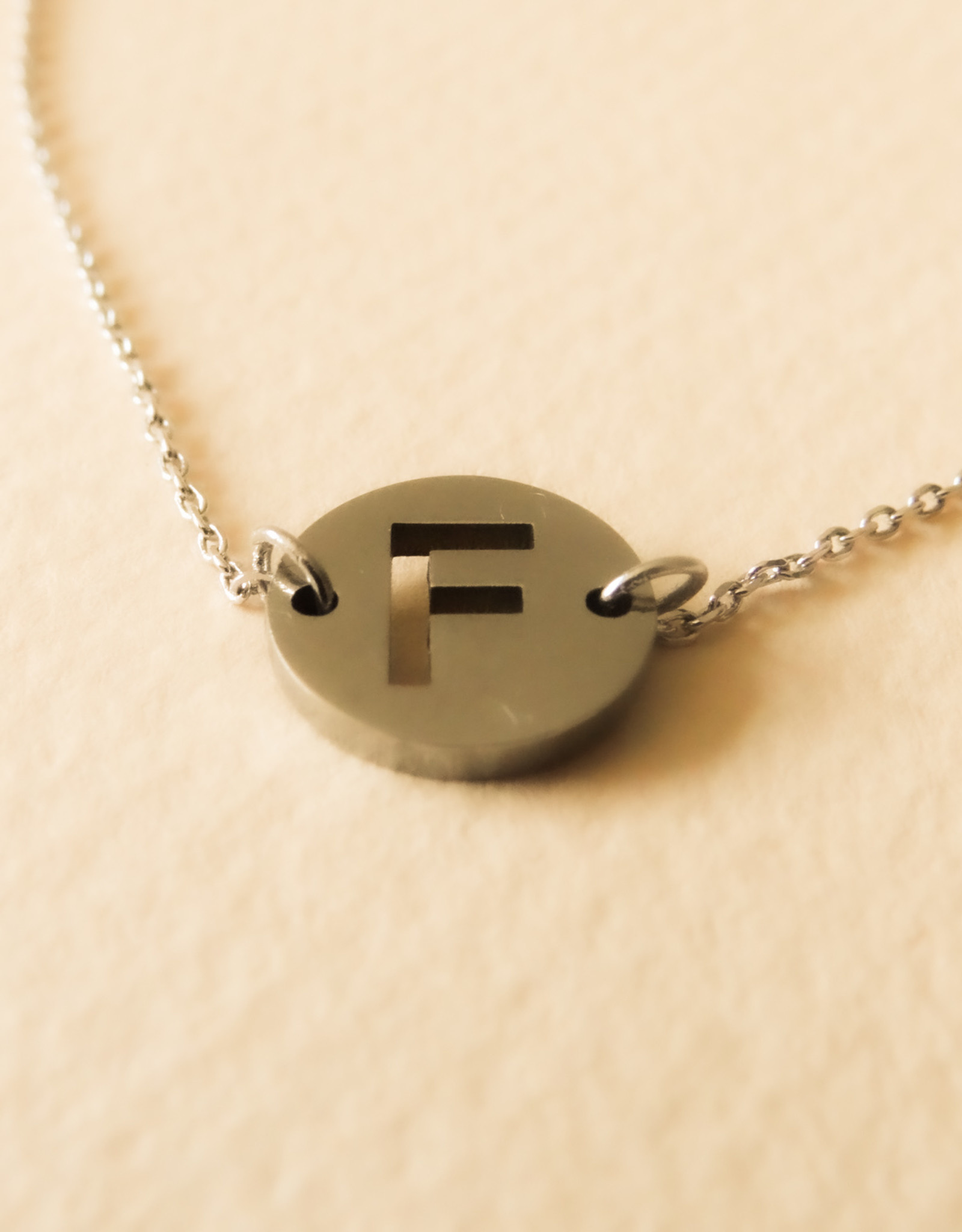 Armband met initialen zilver
