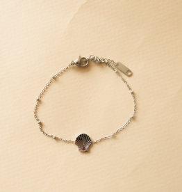 Schelpen armbandje zilver
