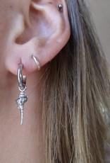 Schelpen oorbellen ocean shell zilver