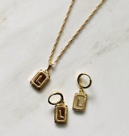 Ketting antique initial goud