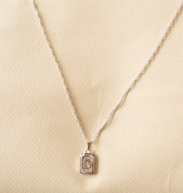 Ketting antique initial zilver