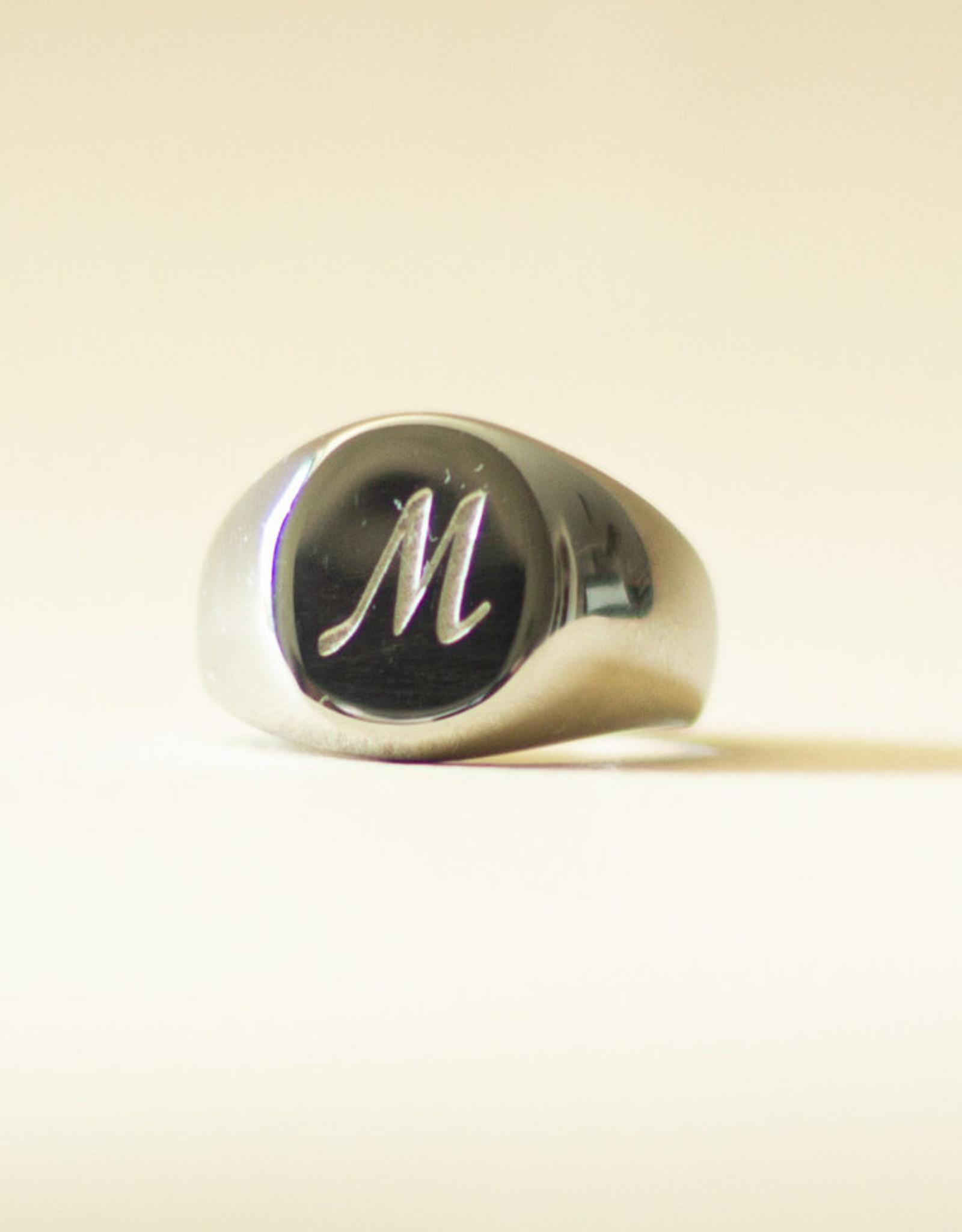 Zegelring initialen zilver