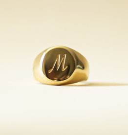 Zegelring initialen goud