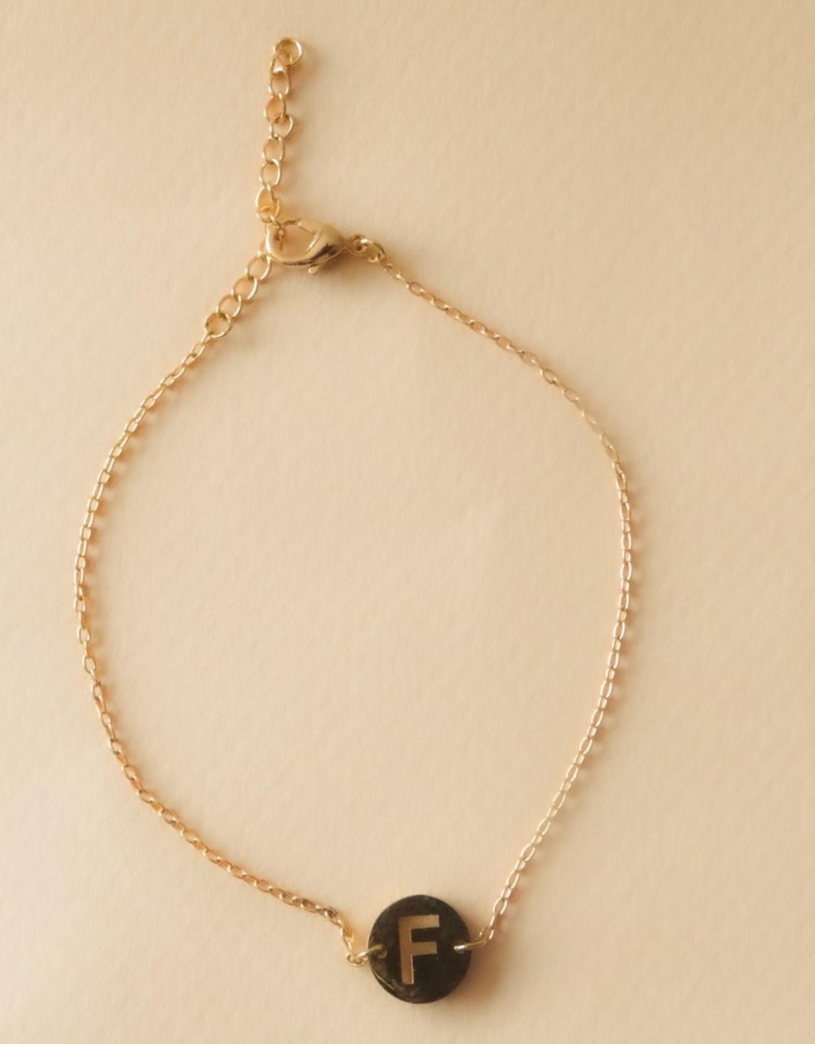 Armband met initialen goud