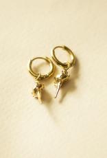 Schelpen oorbellen ocean shell goud