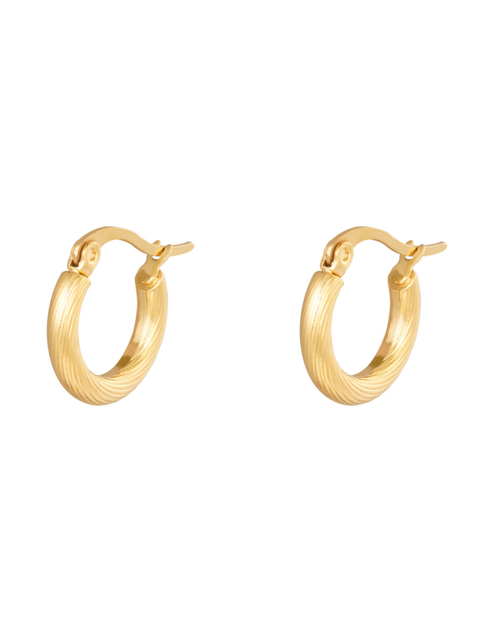 Twisted hoops oorbellen goud